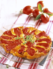 Tomato and goat cheese tatin tart