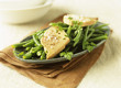 Green bean and foie gras salad