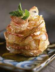 Baked apple mille-feuille