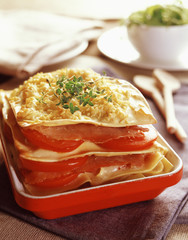 Tomato,ham and cheese lasagnes
