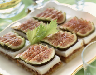 Fromage frais and figs on toast