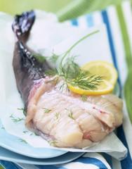 Raw monkfish