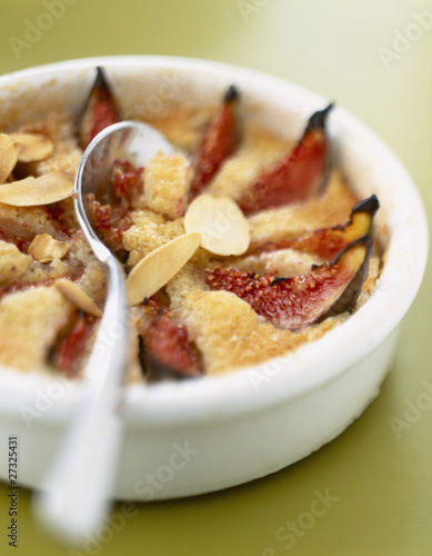 fig and almond clafoutis batter pudding