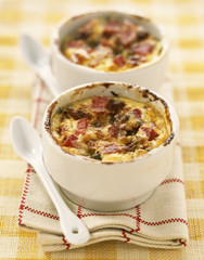 Ham and roquefort clafoutis