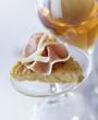 Beaufort socca galette with raw ham