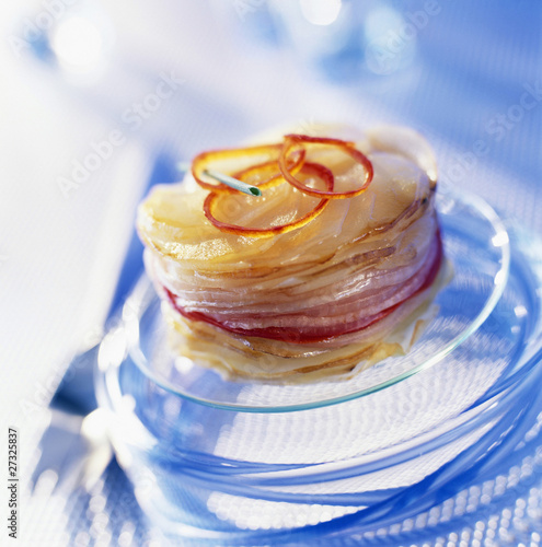 potato and onion  layer