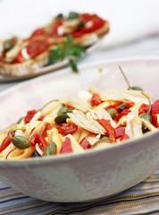 penne pasta and tuna salad