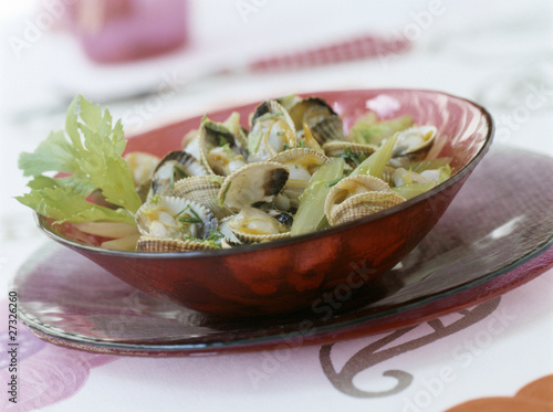 Cockles with celery