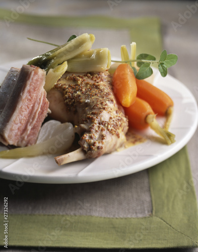 Mustard rabbit pot-au-feu