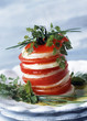 Tomato,fresh Tomme and pistou mille-feuille