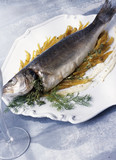 Roast bass with thyme and fennel