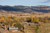 Colorado mountain village and farmland