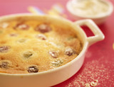Grape clafoutis batter pudding