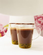 Cups of passionfruit  hot chocolate