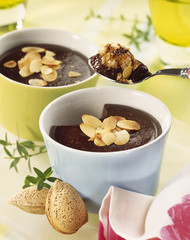 Chocolate and almond cream dessert