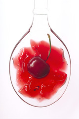 spoon of cherry jelly