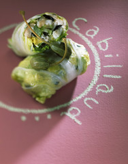 Chinese cabbage and cod parcels