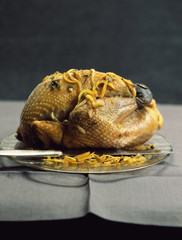 Roast guinea-fowl with spices