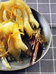 Fennel cooked with orange zests