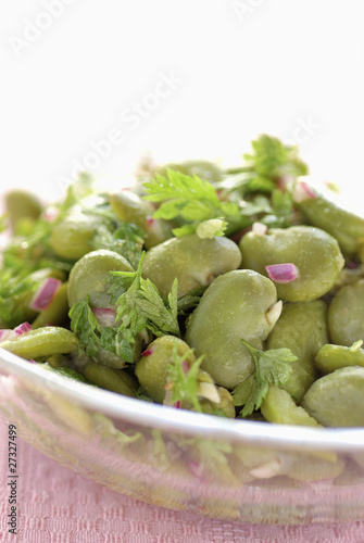 Broadbean salad