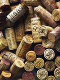 Corks from vintage wine bottles