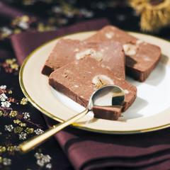 Slices of chestnut cake
