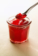 Pot of redcurrant jelly