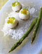 Quail eggs with asparagus
