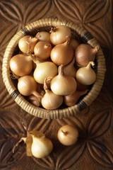 basket of small onions