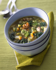 Soup à la pancetta
