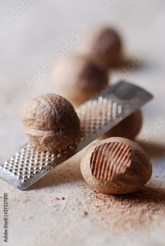 Nutmeg with small grater