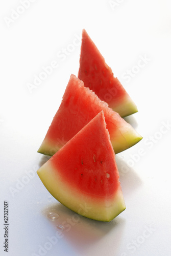 Triangles of watermelon