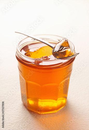 Pot of quince jelly