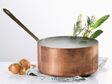 Copper saucepan and steam