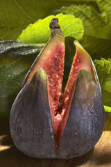 Fig cut in four