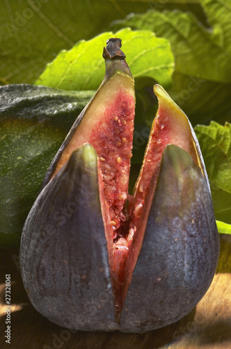 Fig cut in four