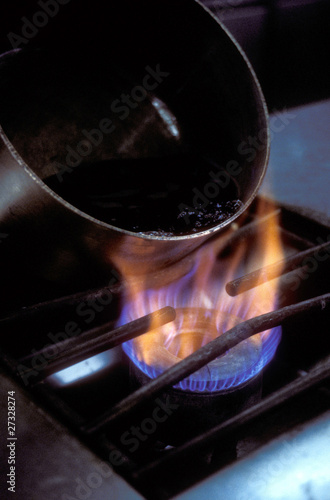 Pan on the gas fire