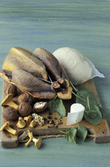 Ingredients for guinea-fowl recipe