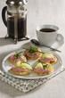 Tarama blinis and black coffee