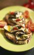 Eggplants on toast