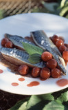 Mackerels with cherries