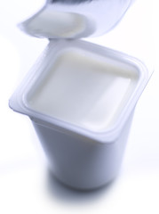 Pot of plain yoghurt