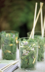 flower salad verrine