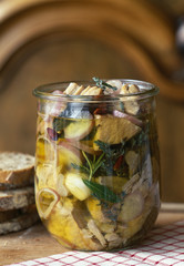 Veal stew in a jar
