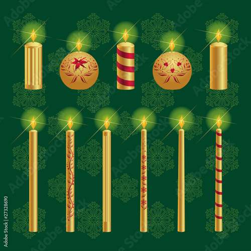 Christmas Candles Set
