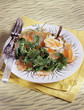 Haddock with orange and salmon roe