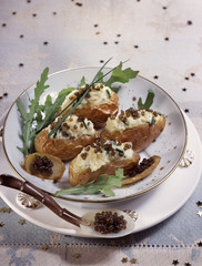 Chilled cream of cauliflower with lumpfish roe