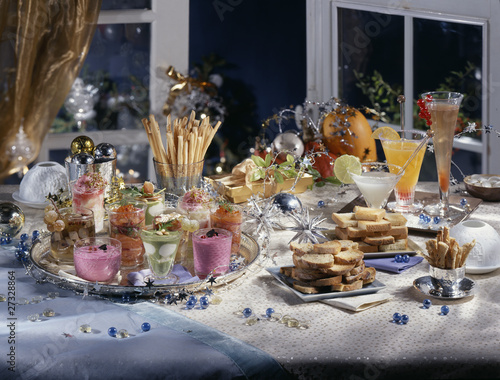 Christmas aperitif buffet