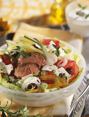 Lamb salad with feta