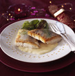 Pan-fried  pike-perch fillet with dill